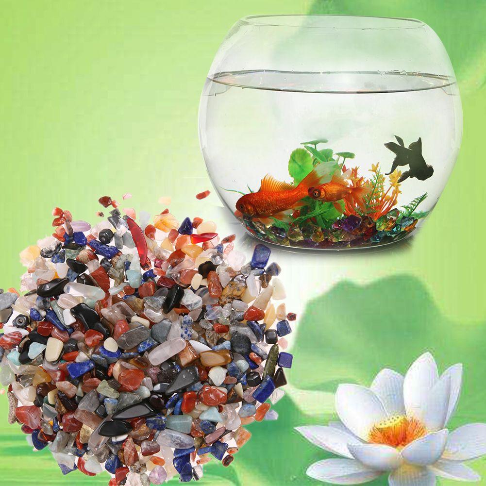 100 gr/beutel Unregelmäßigen Trommelsteine Kies Kristall Healing Reiki Rock Edelstein Perlen Chip für Aquarium Aquarium Dekoration