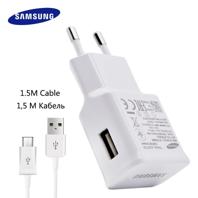 100% D'origine Samsung Rapide Chargeur Galaxy Note4 5 S7 6 Adaptatif bord Charge Rapide 9V1. 67A & 5V2A 1.5 M Micro USB Câble mur chargeur