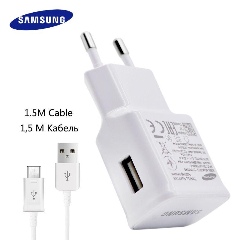 100% D'origine Samsung Rapide Chargeur Galaxy Note4 5 S7 6 Adaptatif bord Charge Rapide 9V1. 67A & 5V2A 1.5 M Micro USB Câble mur chargeur