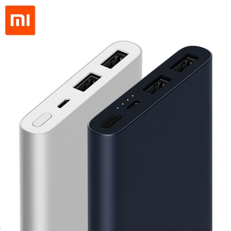 New Arrival Xiaomi Mi 10000mAh Power Bank 2 External Battery Dual USB Output Two Way Quick Charge 18W Max for Android IOS phone