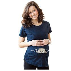 2017 Femmes T-shirts de Maternité De Bande Dessinée Haut allaitement Drôle La Grossesse T chemises Coton T chemise enceinte t-shirt vêtements # J003