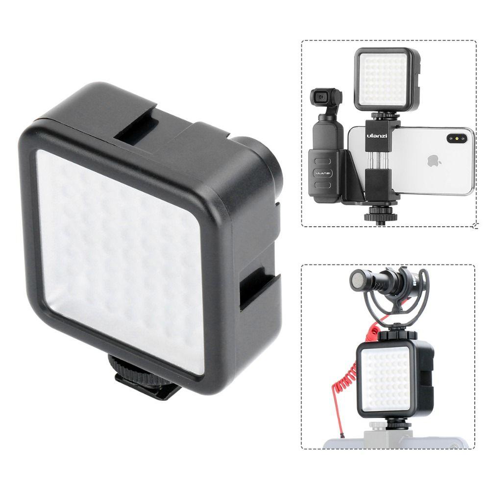 Pocket on Camera Mini LED Video Light Photography Fill Light 3 Hot Shoe Mount for DJI Osmo Pocket Nikon Sony A6400 DSLR Gimbals