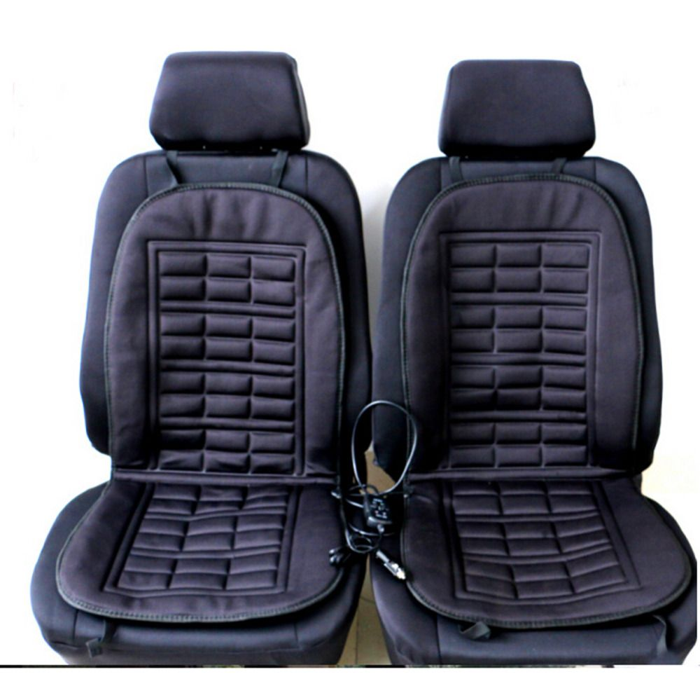 2pcs Car <font><b>Seat</b></font> covers Automobiles Front <font><b>Seat</b></font> Covers Pad Electric Heated Cushion Interior Car Styling Rolled Up Car Styling