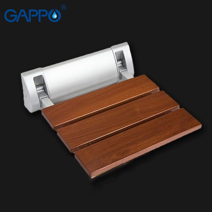 GAPPO Wall Mounted Shower Seats Solid wood folding chair bathroom relax chair shower Stool toilet Bath bench