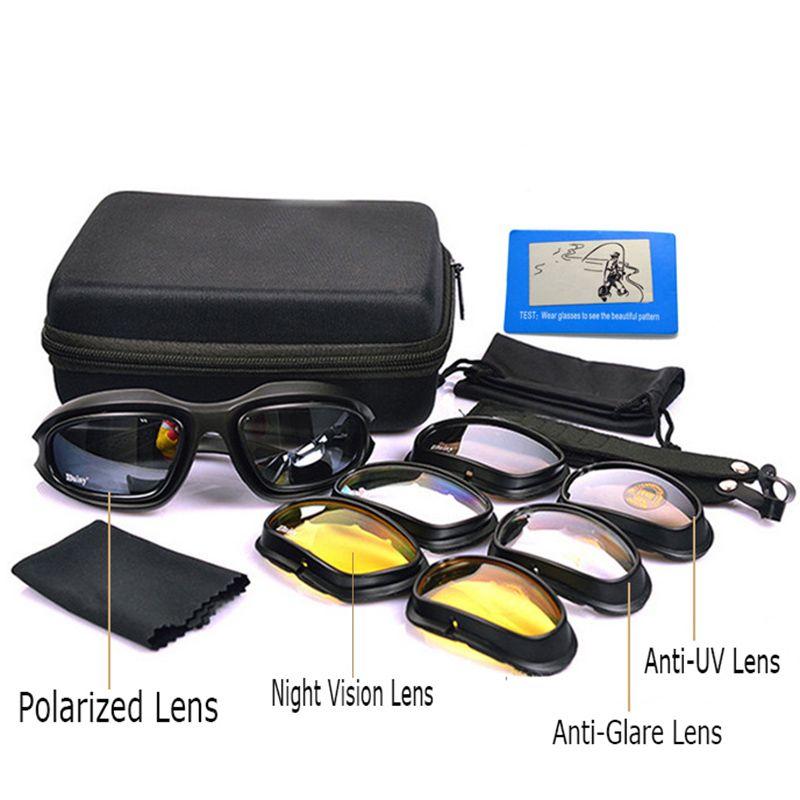 Daisy C5 Polarized Army Goggles Sunglasses Men Military Sun Glasses For Men's Desert Storm War Game <font><b>Tactical</b></font> YQ161