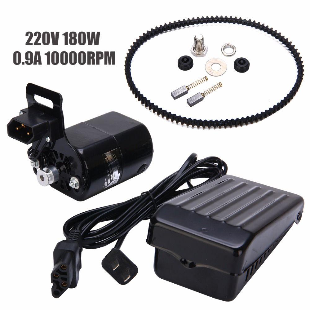 Neue Schwarz Inländischen Haushalt Nähmaschine Elektrische Motor 220 V AC 180 W 0.9A 10000 rpm + Geräuscharm Geschwindigkeit pedal Controller Mayitr