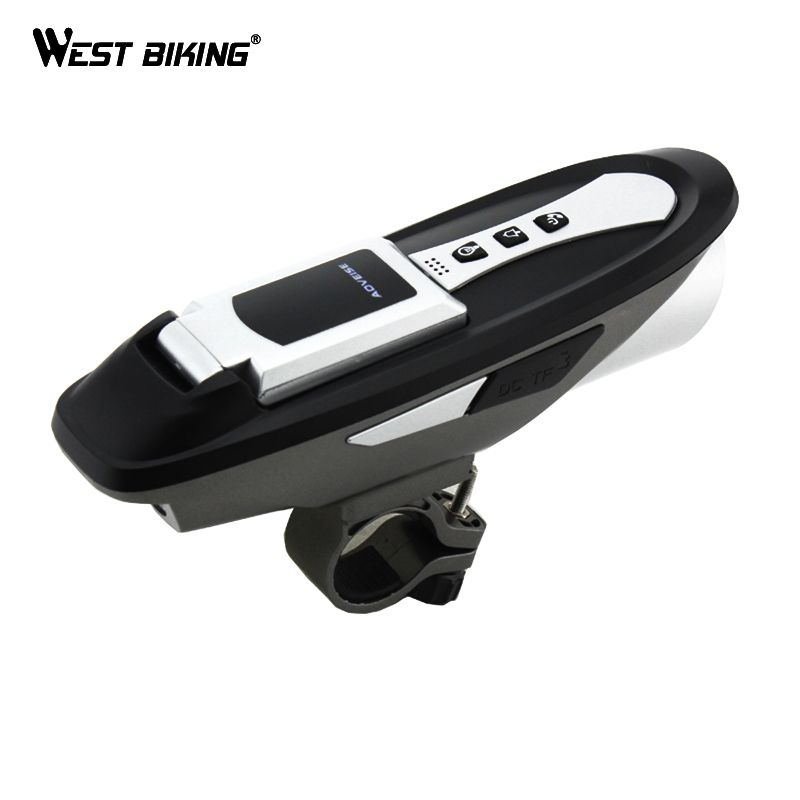WEST RADFAHREN 6 Funktion Radfahren Rechen + Licht + Sound + Bluetooth Handys + Glocke + Usb-ladegerät + Fahrrad wasserdichte Drahtlose Fahrradcomputer