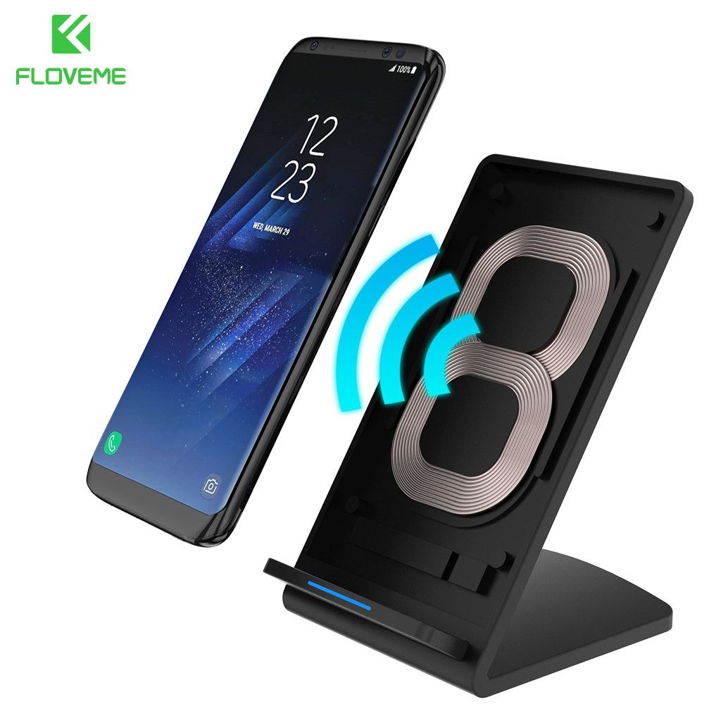 FLOVEME 5V 2A Qi Wireless Charger For Samsung Galaxy S8 Plus S7 Note 8 Charger For iPhone X 8 Fast Charging For Nexus 4 5 6 HTC