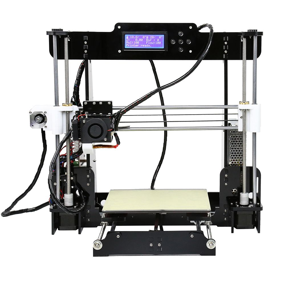 Auto level High precision easy to assemble and larger printing size Anet A8 DIY 3D Printer Kit Filaments Aluminum Hotbed LCD2004