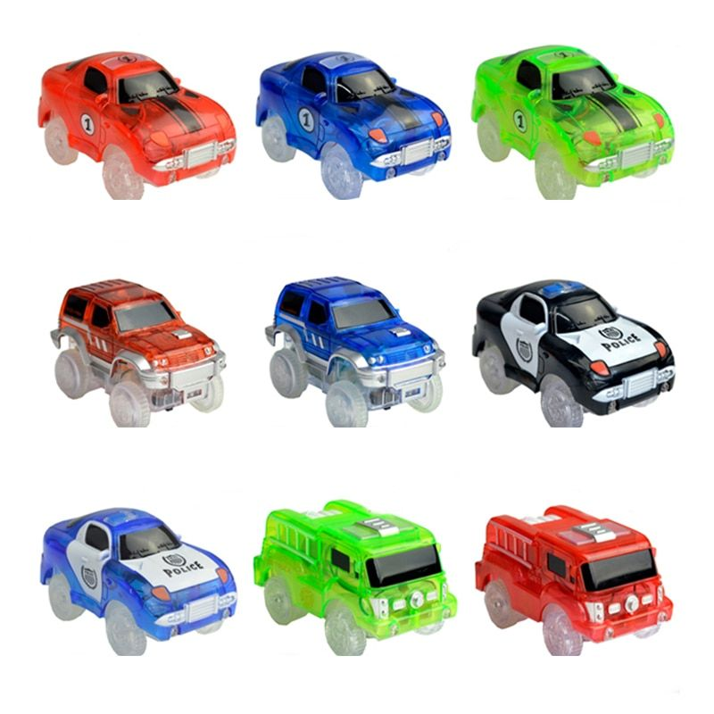 Electronics Race Car Toys With Flashing Lights Educational Toys For Children Boys Birthday Gift Boy Play  Track Together