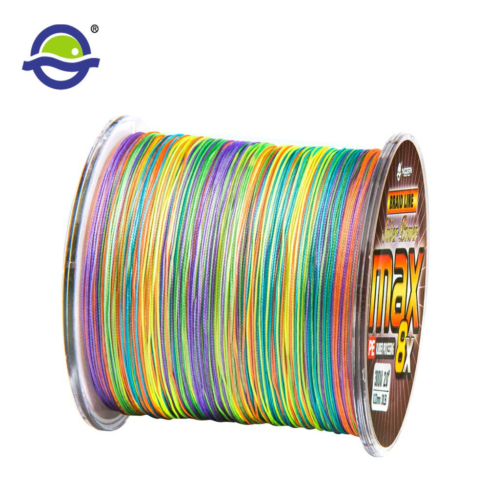 500M 8X 1 Meter 1 Color Fishing Line Super Strong Japan Multifilament 8 Strands Super Smooth Braid Wires 20 30 40 50 60 80 100LB