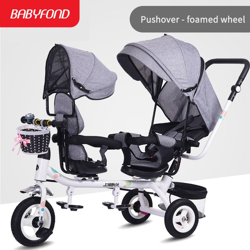 Brand baby stroller twins baby stroller tricycle
