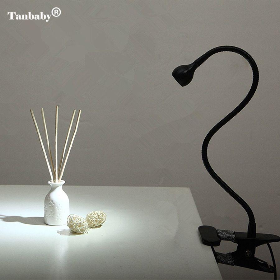 Tanbaby USB Ajustable LED Libro de Lectura Lámpara de Escritorio de Cabecera De Cuello de Ganso Flexible con Clip en la Luz y On/off Interruptor de Control