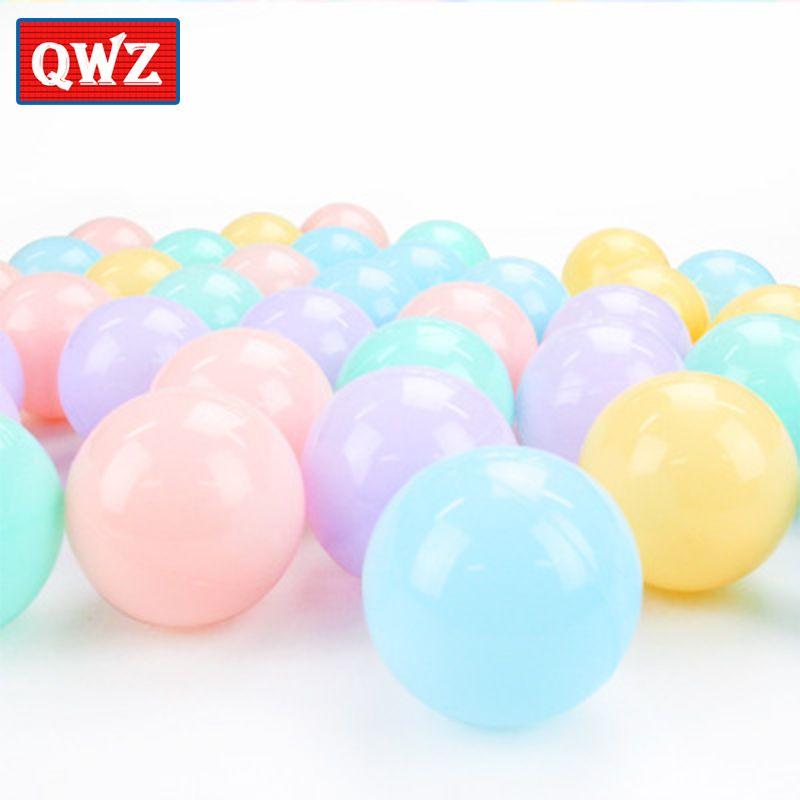 QWZ 200pcs/lot 6cm Marine Ball Children's Colored Ball Thickening Amusement Interactive Swimming Ball Toy Children Gift