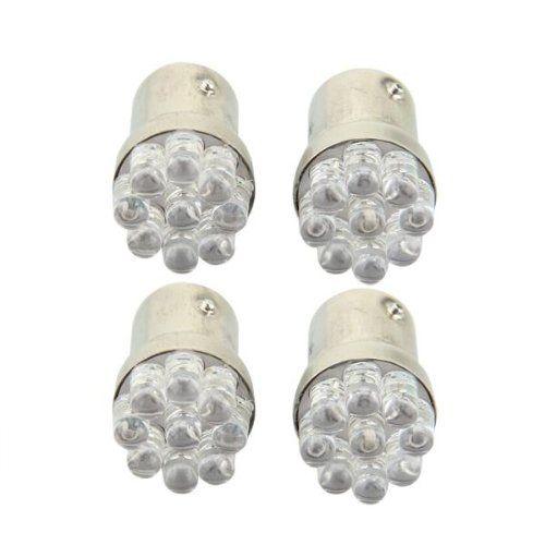 4 x 1157 BA15S 9 LED Car Park Light Brake Light Flasher Taillight red 12V