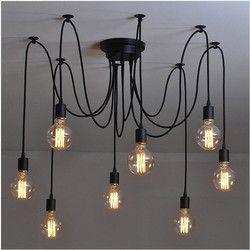 L2-DIY querida flor araña moderno nórdico Retro colgante lámparas araña lámpara de techo luz para sala
