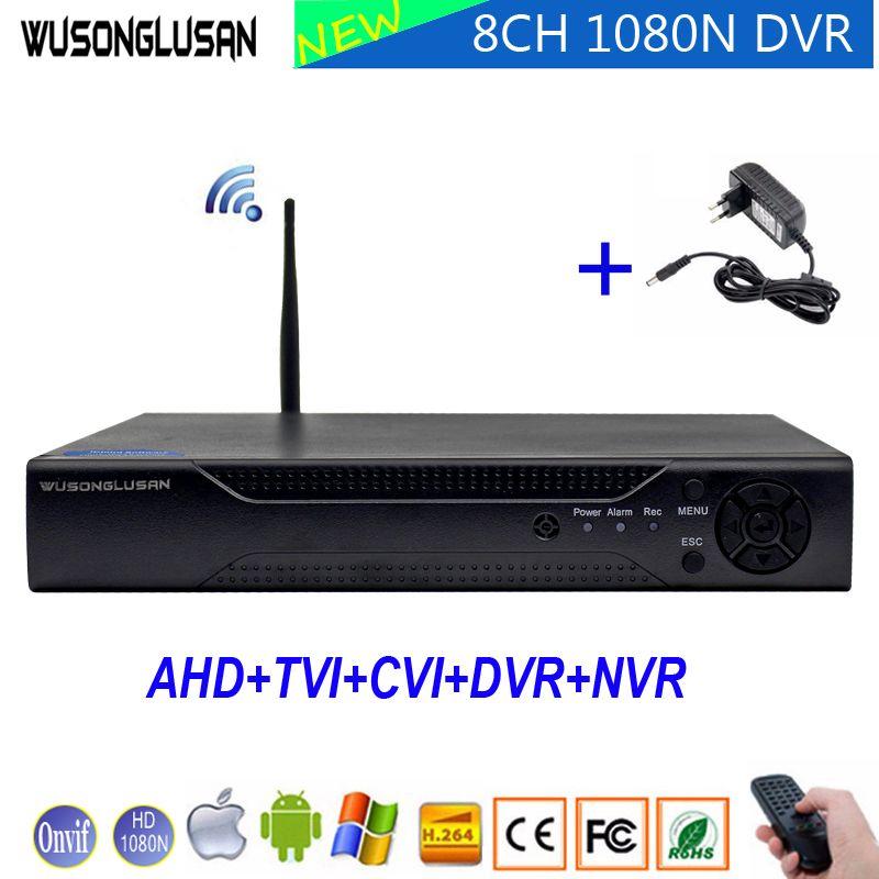 XMeye 1080N 8 Kanal 8CH 5 in 1 Wifi Hybrid Koaxial DVR Onvif P2P 3g 1080 p NVR CVI TVi AHD IP CCTV Startseite Überwachung Kamera