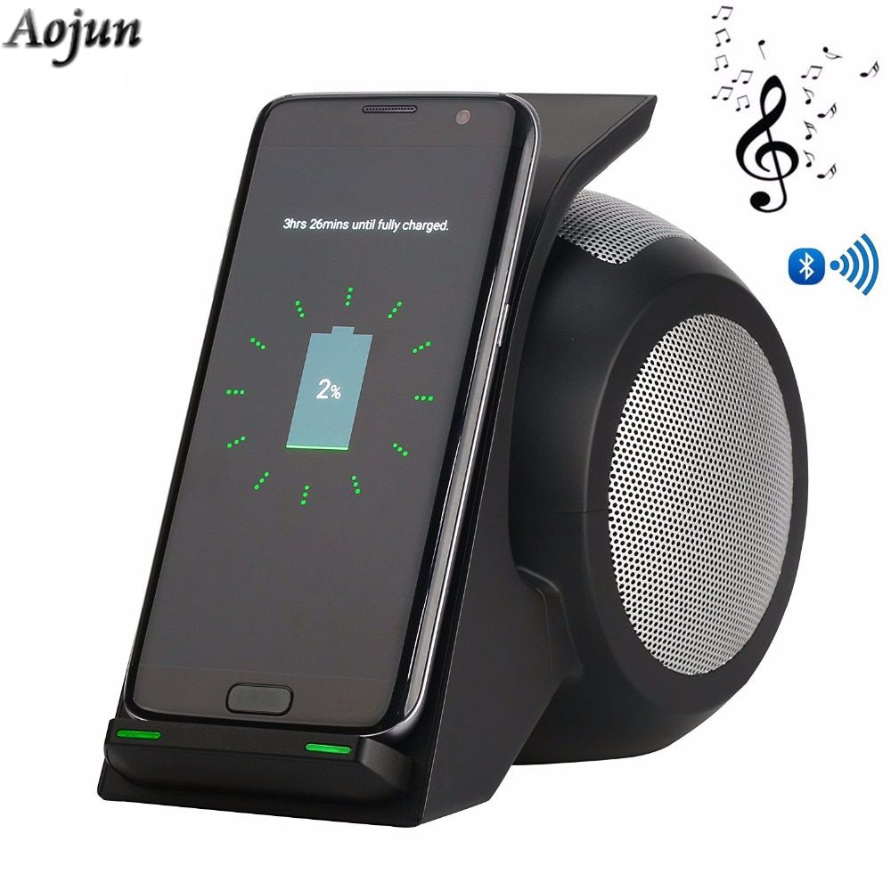 Qi Wireless Charger with Bluetooth Speaker For HUAWEI Mate RS Phone Wireless Charging for Galaxy S9/S9 Plus Note 8/5 S8/S8 Plus