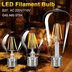 TSLEEN Vintage COB E27 LED Lampe Edison Lampada LED Ampoule 110 V 220 V G45 A60 ST64 Filament Lumière 4 W 8 W 12 W 16 W Rétro Lumière Ampoule