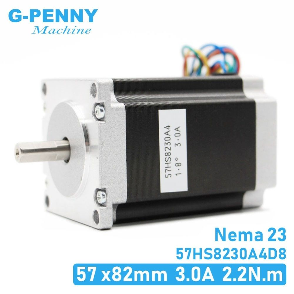 NEMA 23 CNC Stepper motor 57x82mm 3A 2.2N.m D=8mm 6.35mm 315Oz-in Nema23 CNC Router Engraving milling  machine 3D printer