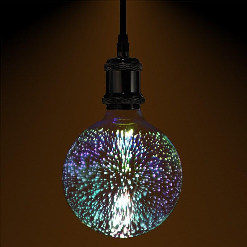 3D фейерверк Ретро Эдисон лампа 4 Вт E27 G125 Свет домашний бар Декор Освещение красочные Стекло Глобусы лампа 420lm AC85-265V