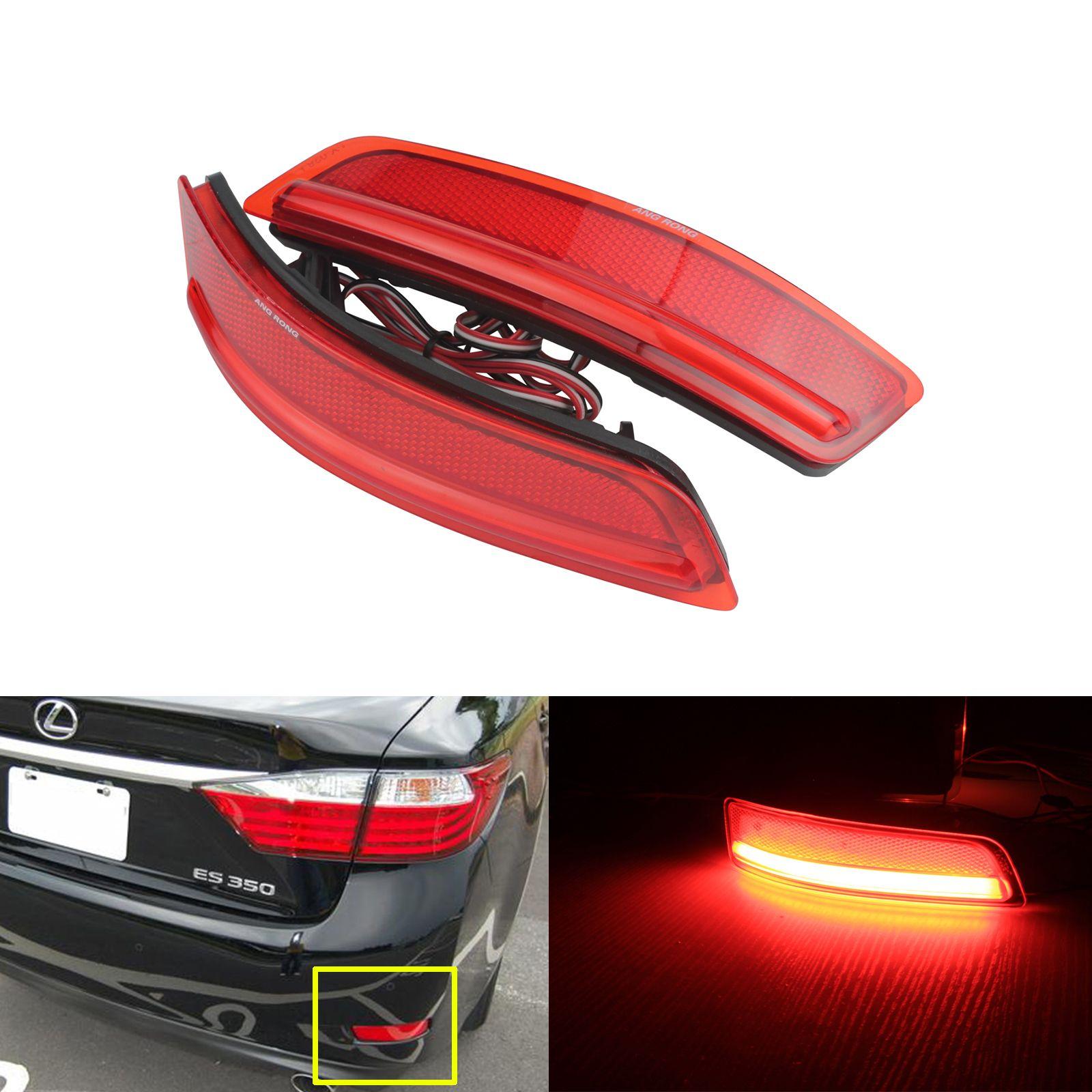 ANGRONG 2x Rot Hinten Stoßstange Reflektor Led Stop-bremslicht Für Lexus ES GS 250 350 300 h 450 h 2012 + für Toyota Corolla