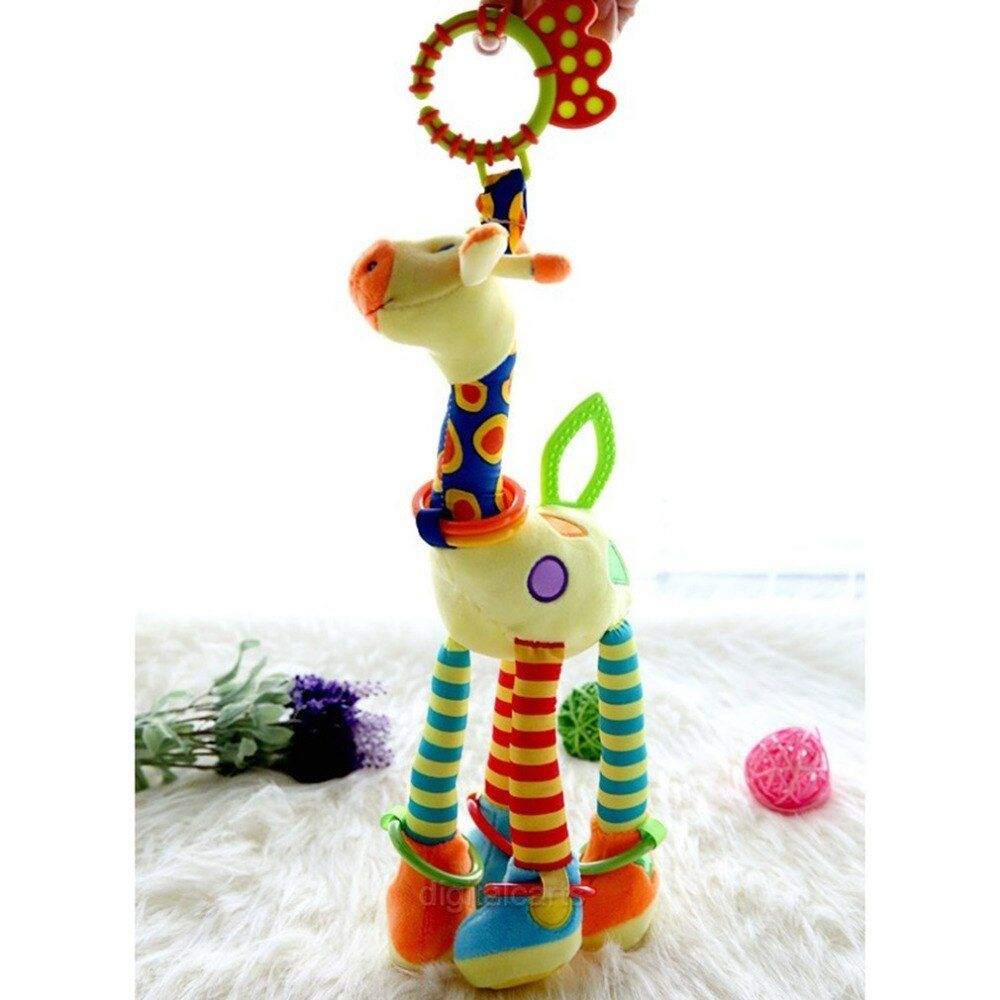 Car hanging Giraffe Bed Bells Infant Toy Long Hanging Educational Animal Baby Child Bed Bells Toys For Car Gift Plush XNC