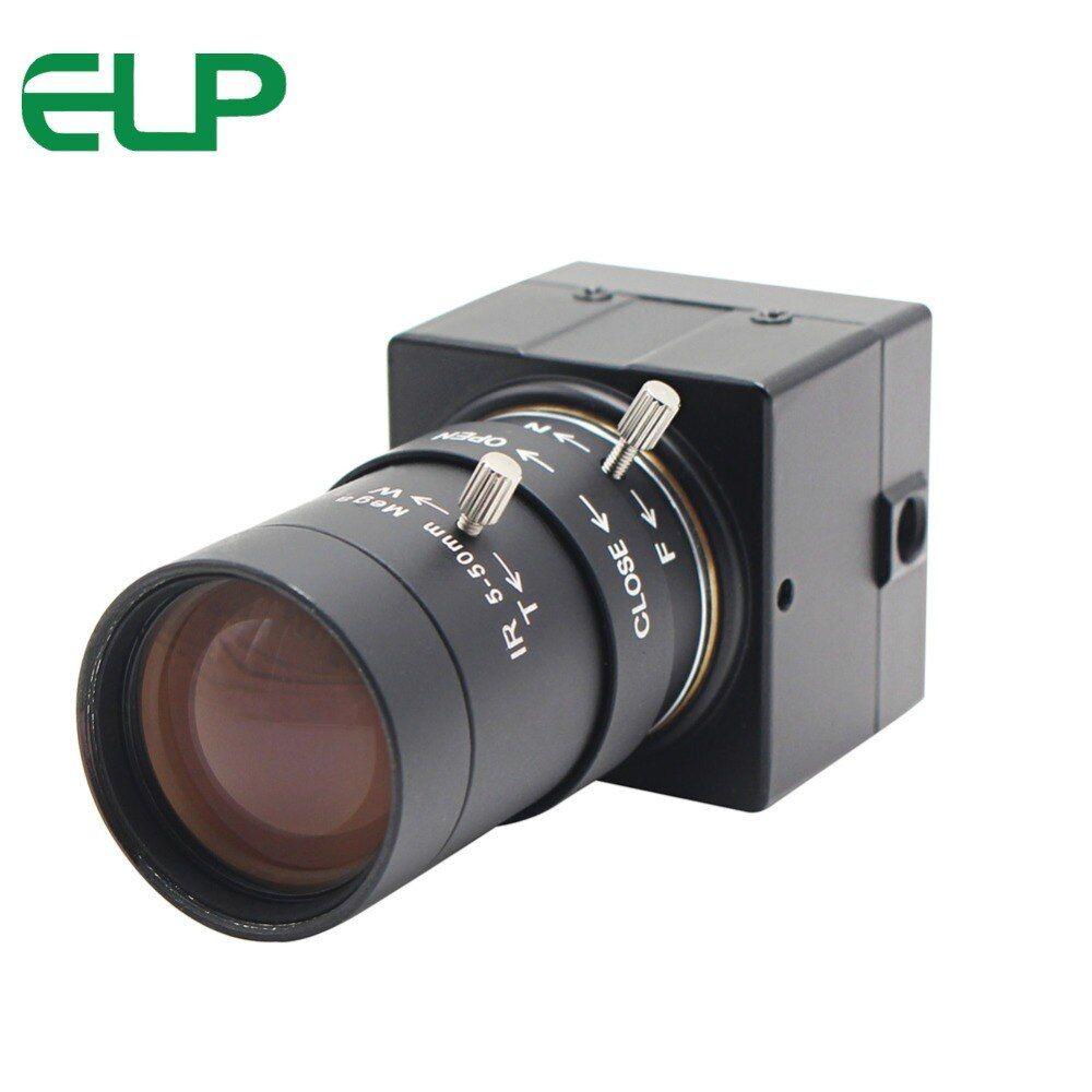 H.264 CCTV Sony IMX322 5-50mm Varifocal Lens Mini USB Webcam Camera 1080P HD Android Linux Windows for PC Video Conference