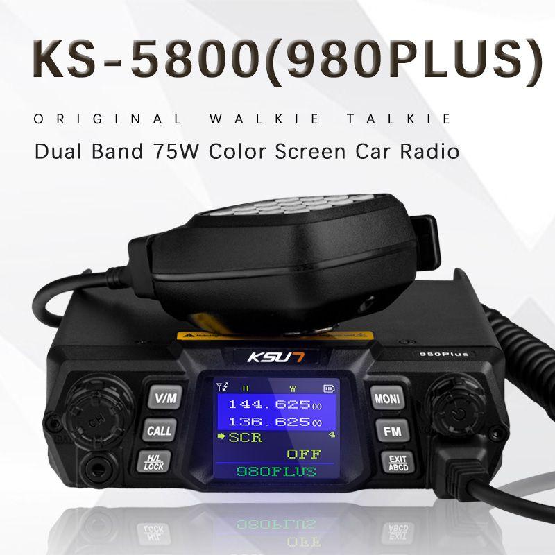 KSUN walkie talkie 980Plus dual band civilian 75W high power handheld two way radio outdoor mobile car radio transceiver