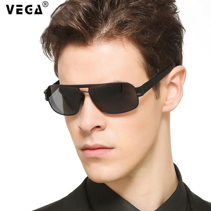 VEGA hommes lunettes de soleil militaires polarisées pour la Police conduite carré UV lunettes de soleil lunettes noires pour hommes Anti-éblouissement visière 3258
