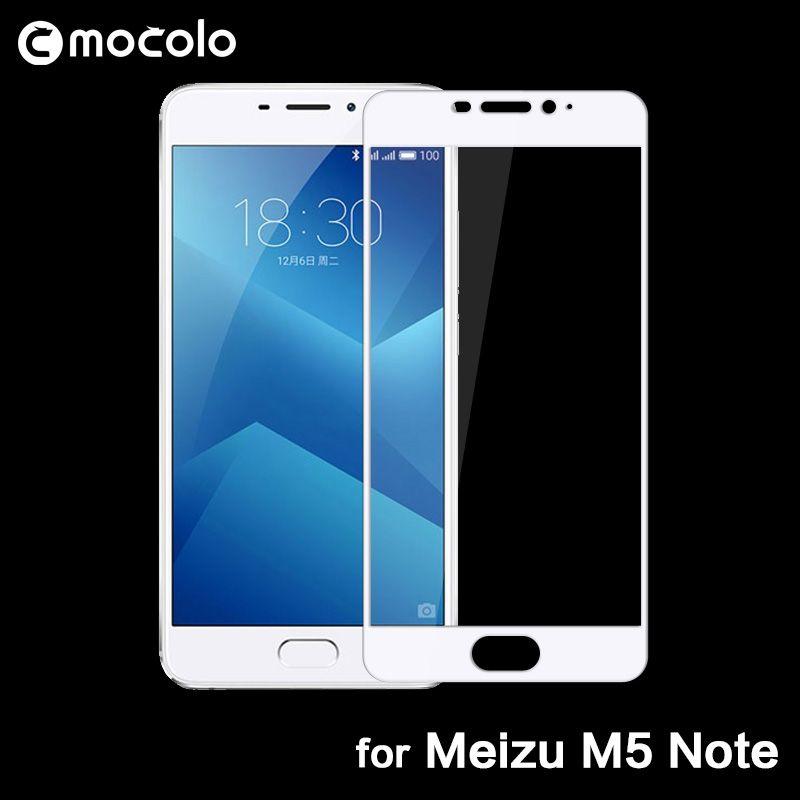Mocolo 0.33mm 2.5D Film de protection en verre à couverture complète pour Meizu Meilan Note 5 protecteur d'écran en verre trempé pour Meizu M5 Note