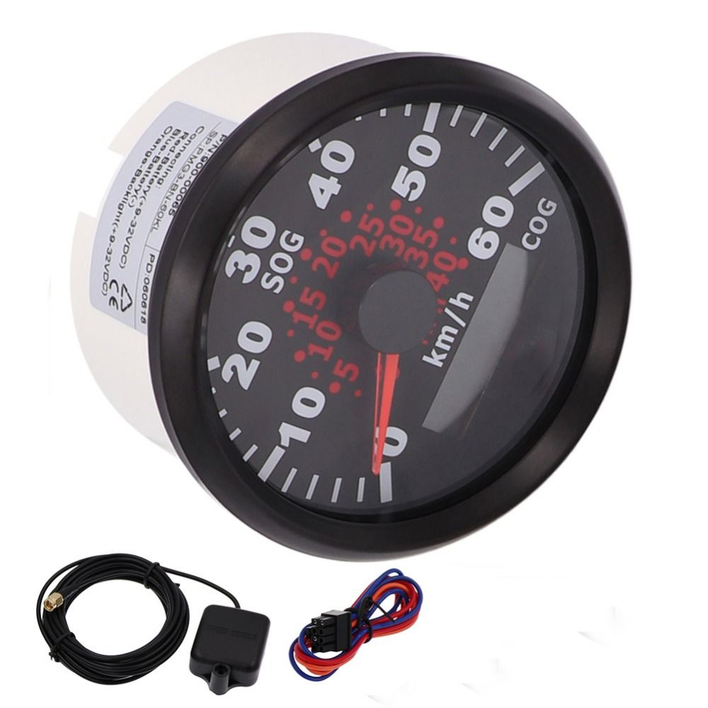 85mm Marine Car GPS Speedometer Odometer Gauge 60km/h GPS Motorcycle Speedometer With Backlight fit Motor Boat Yacht 9~32V