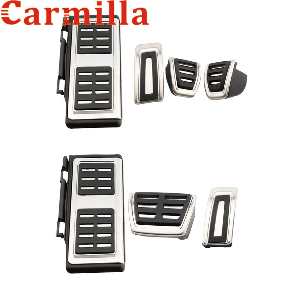 Carmilla Car Foot Fuel Pedal Brake Clutch Pedals Cover for Volkswagen VW Golf 7 GTI MK7 for Skoda Octavia A7 Parts Accessories