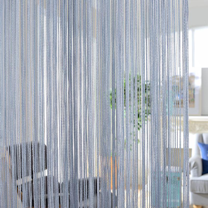 300x260 cm couleur unie rideaux rayure blanc blanc blanc gris classique ligne rideau fenêtre aveugle cantonnière chambre diviseur porte décorative