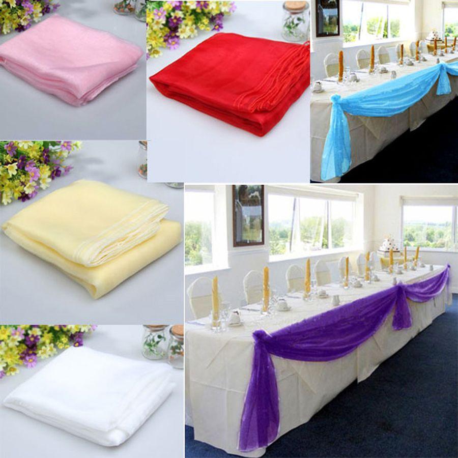 500x140 cm Sheer Organza Multi Verwenden Wedding Stuhl Schärpe Bogen Tischläufer DIY Hochzeitsdekoration Bankett Casamento Swag