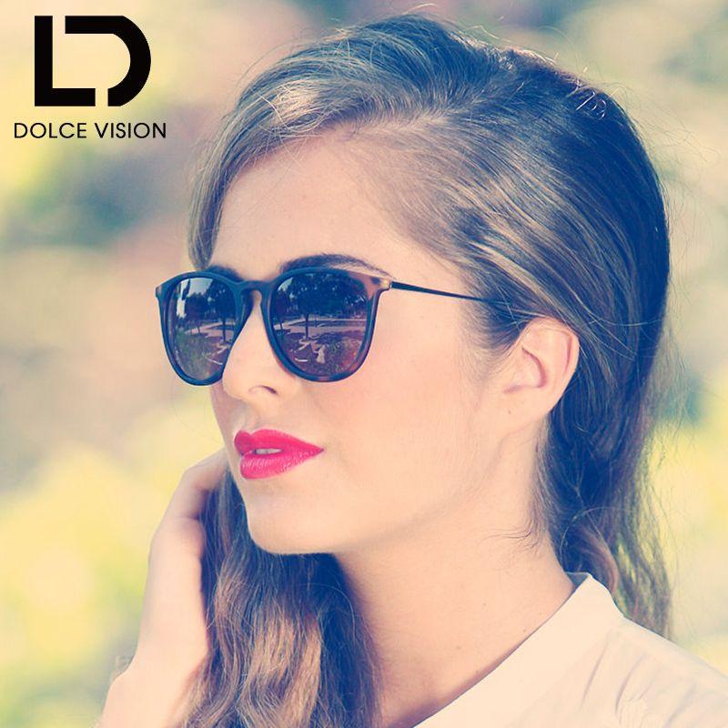 DOLCE VISION De Luxe Marque Femmes lunettes de Soleil Pour Femme shades Designer Lunette Mode Féminine Gradient Lentille Lunettes de Soleil Dames