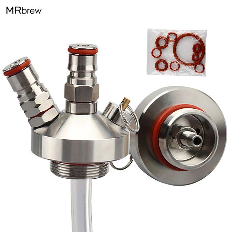 Nouveau 304 en acier inoxydable Mini Keg robinet distributeur avec 12 ''tuyau de bière pour Mini artisanat bière Keg Growler Homebrew lance 3.6L/5L/10L