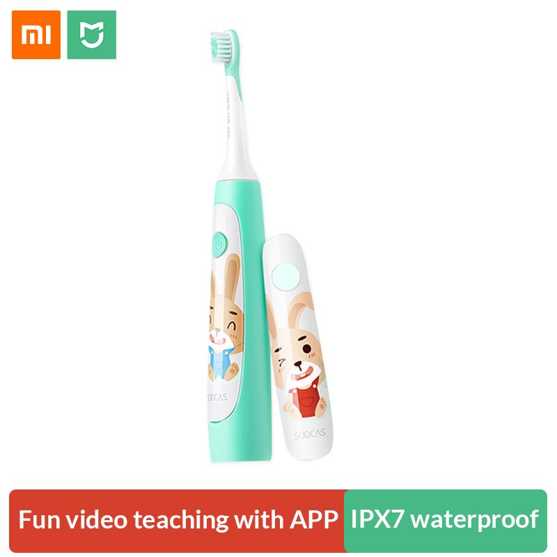 Xiaomi Soocas Sonic Electric Toothbrush for Children Waterproof Cute Cartoon Kids Electric Tooth Brush Rechargeable Dental Care
