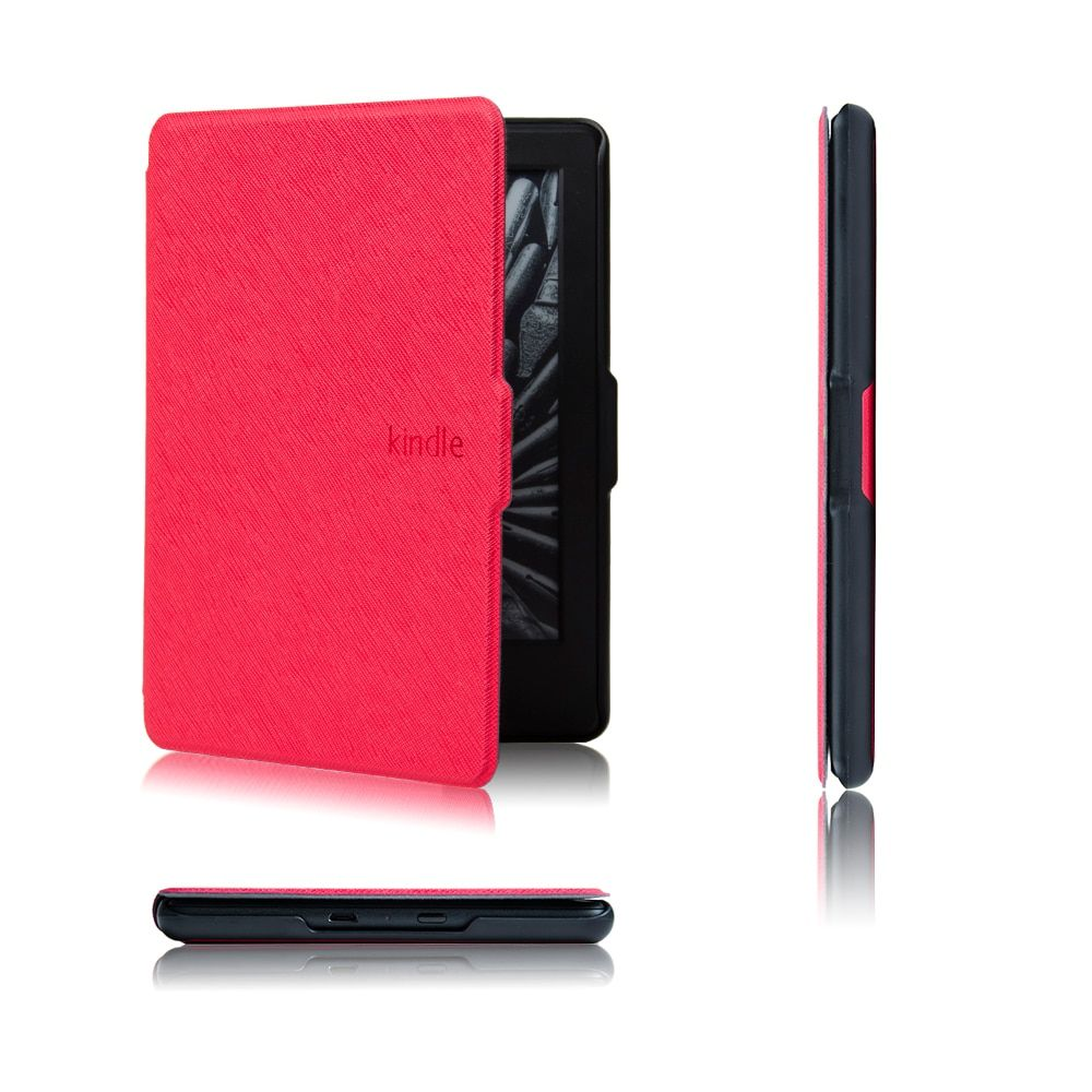 Ultra slim thin magnetic case cover  for All-New Kindle (8th Generation 2016) PU leather cover case+free gift