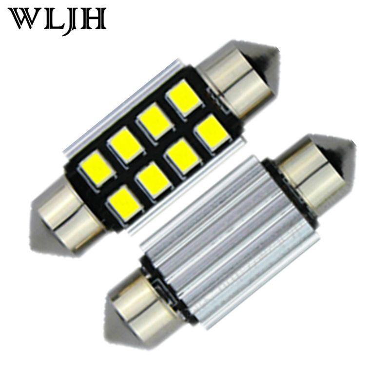 Wljh 1x Canbus лампада 36/39/31/41 мм светодиод для Samsung привело чип 2835 LED de3021 6418 C5W Подсветка салона 12 В светодиодный источник света автомобиля