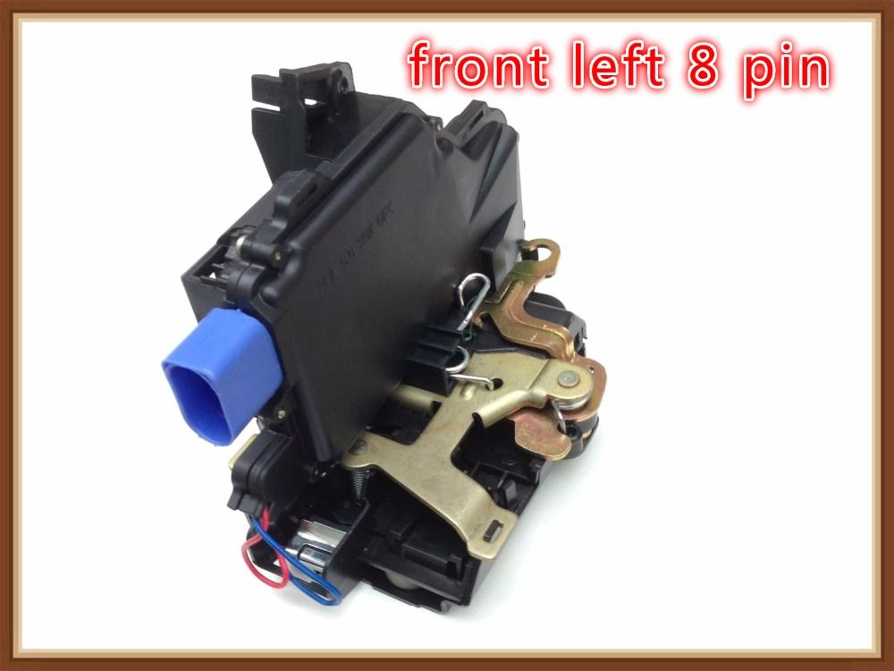 FRONT LEFT Door Lock Mechanism FOR VW NEW BEETLE POLO 9n TRANSPORTER t5 SKODA FABIA ROOMSTER SUPERB SEAT CORDOBA (6L) IBIZA
