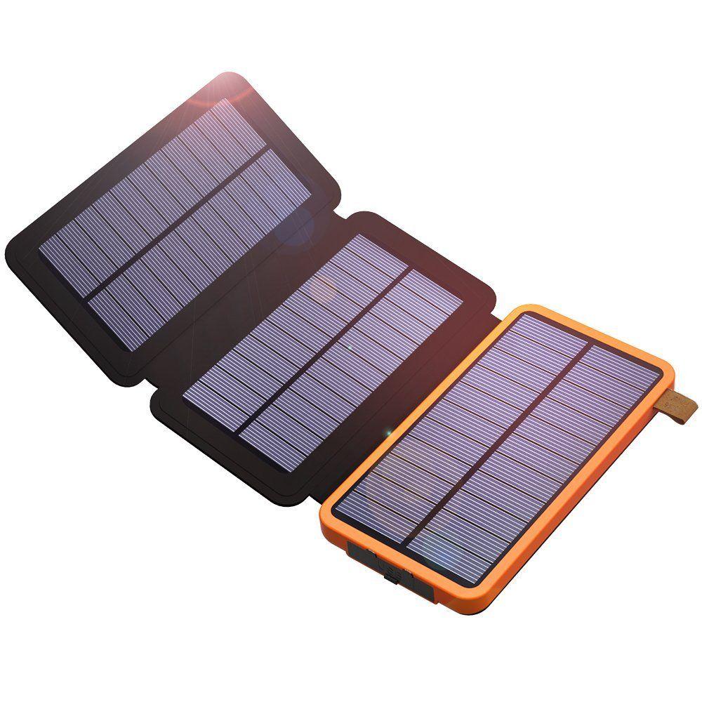 Chargeur de téléphone 10000 mAh chargeur de téléphone solaire batterie externe double USB pour iPhone 4 s 5 5 s SE 6 6 s 7 7plus iPad Samsung s7 s8 HTC LG Sony