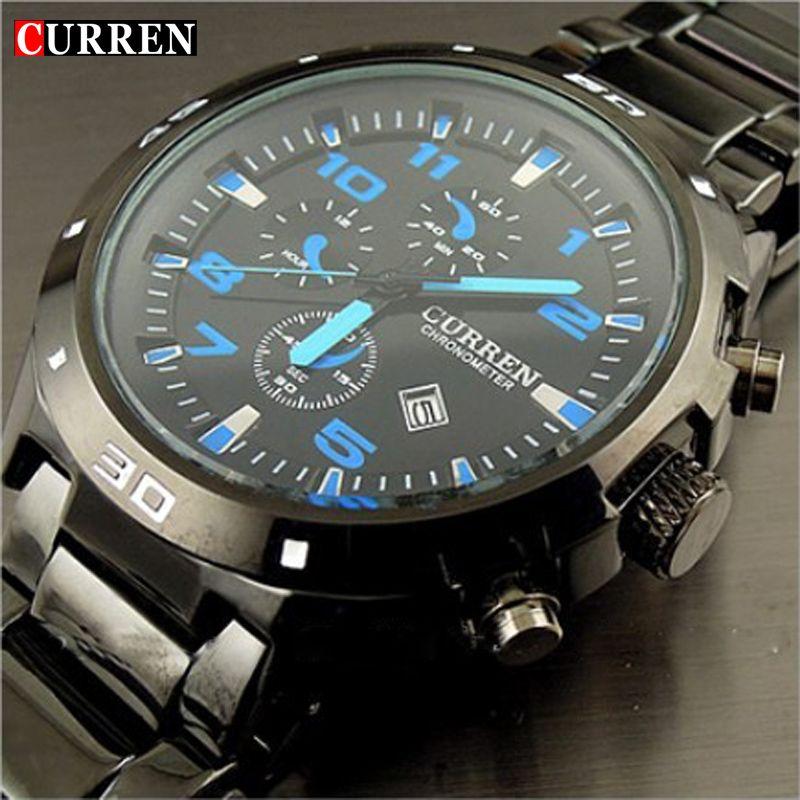 Curren Brand fashion clock stainless steel Military Man Casual Sport <font><b>Quartz</b></font> watch waterproof reloj relogio masculino Male