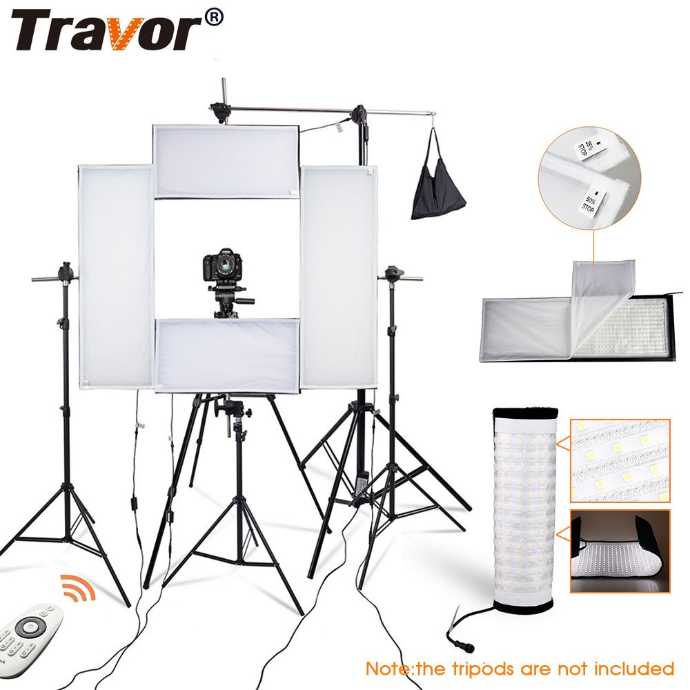 Travor 4 in 1 NEUE Flexible LED Video Licht Streifen Licht Dimmbare 5500 K Studio Licht Fotografie Licht Mit 2,4G Fernbedienung