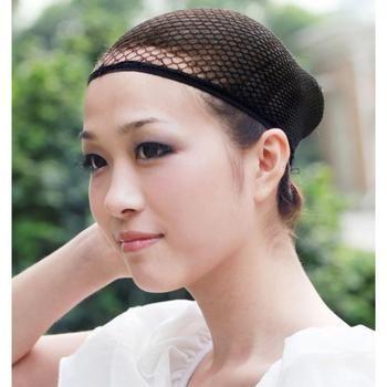 1 Pc De Mode Extensible Maille Perruque Cap Noir Maille Extensible Mesh Cap Perruque Élastique Cheveux Snood Filets pour Cosplay Livraison gratuite