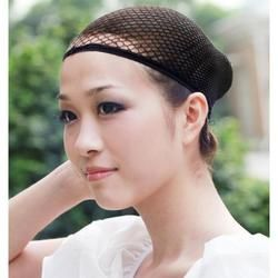 1 Pc Fashion Stretchable Mesh Wig Cap Black Mesh Stretchable Mesh Wig Cap Elastic Hair Snood Nets for Cosplay Free Shipping
