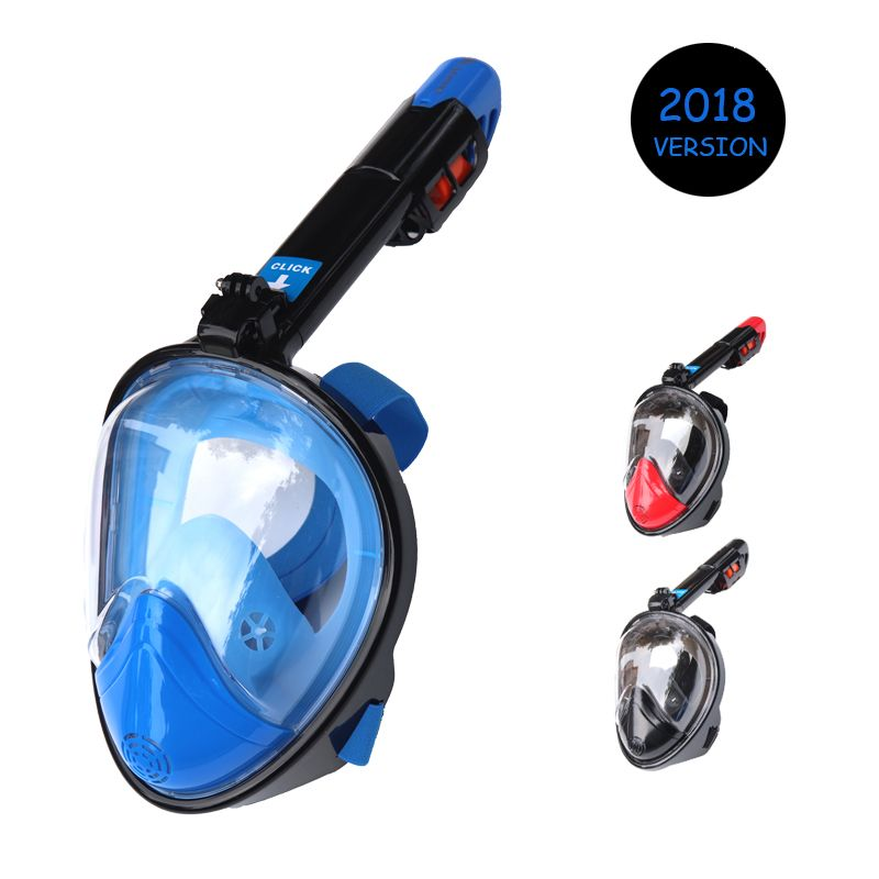 2018 Hot Diving Mask Scuba Mask Underwater Anti Fog Full Face Snorkeling Mask Women Men Kids Swimming Snorkel Diving Equipment