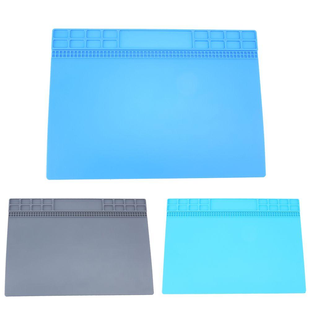 35*25cm Heat-resistant Soldering Mat Silicone Heat Gun BGA Soldering Station Insulation Pad Repair Maintenance Platform Desk Mat
