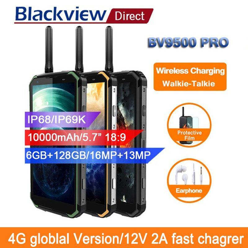 Blackview BV9500 pro 10000mAh IP68 Waterproof Smartphone android 8.1 5.7 18:9 6GB 128GB walkie talkie face ID 4G mobile phones