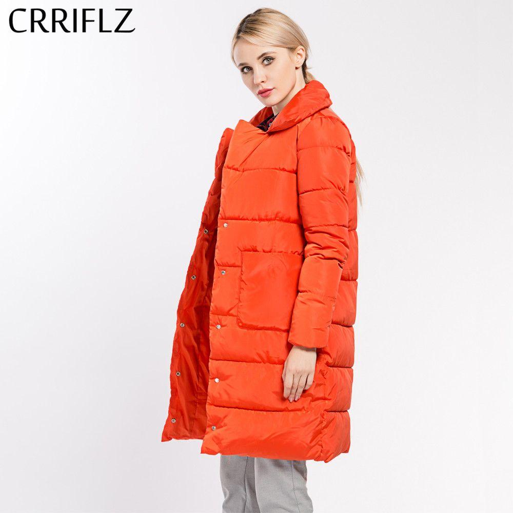 Winter Frauen Mantel Jacke Umlegekragen dünnen Frau Parka Mantel Weibliche Hohe Qualität 7 Farben CRRIFLZ Neue Winter sammlung